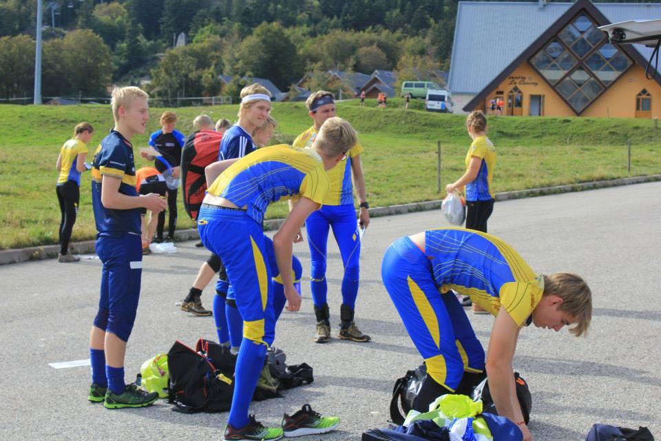 Entraînement pour les suédois à La Féclaz