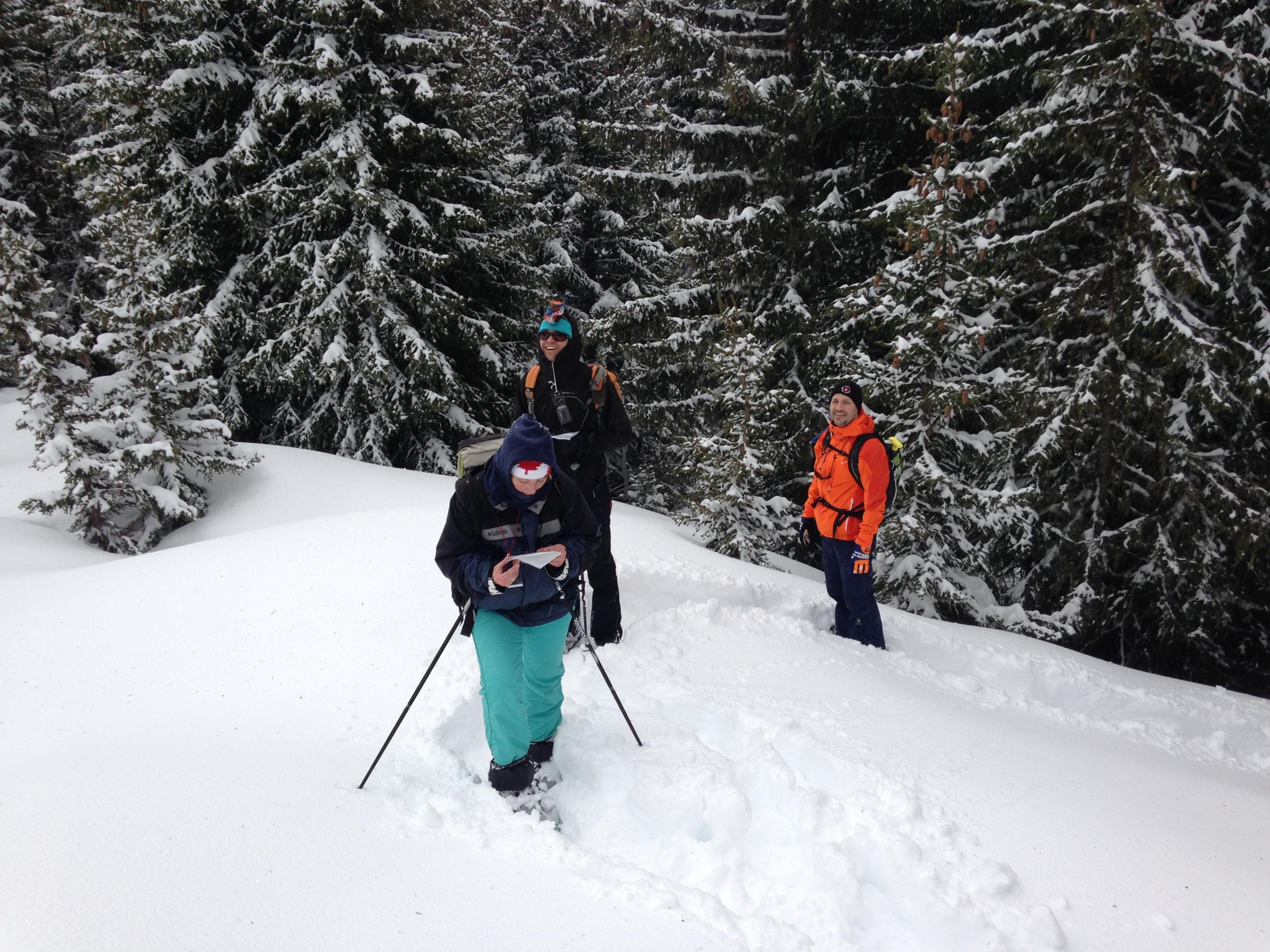 découverte orientation dans la neige