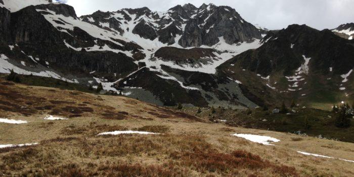 Point De Vue Sur Montagne Enneigées
